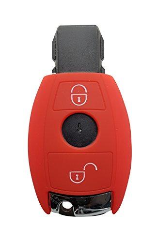CK+ Mercedes - Carcasa de silicona para llave de coche con 2 botones, para A-B-C-E-G-V-S AMG CLA CLS