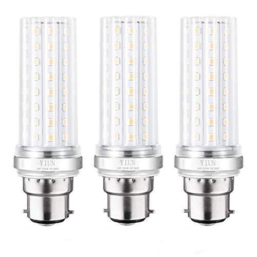 YIUN B22 LED candela lampadine, da 20W a LED candelabri lampadine da 150 Watt equivalente, 1800LM, bianco caldo 3000K, Non dimmerabile lampada a LED, Confezione da 3