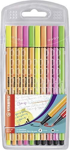 STABILO point 88/Pen 68 neon - Astuccio da 10