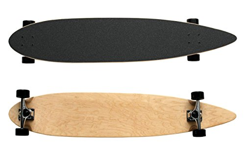 TGM Skateboards Moose Natural Longboard Complete 9 x 46 Pintail Blank