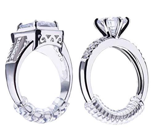 Crasy Shop 12 Stück Ring-Verkleinerung zur Größenanpassung von lose sitzenden Fingerringen, Ringgrößenmesser schmuckwerkzeuge ringeinlagen, ringverkleinerer unsichtbar, 4 Größen -3.5mm, 4mm, 4.8mm,5mm