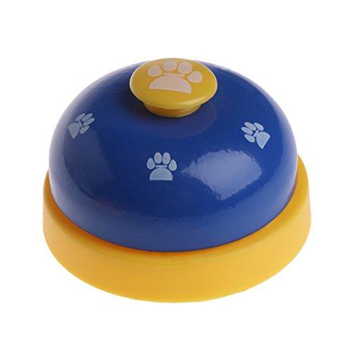 Lyguy Trainingsglocke für Haustiere, Pet Training Bell Dog Footprint Puppy Cats Futterstation Ring Interactive Blau