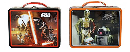 Star Wars episodio 7Large Carry All almuerzo caja de lata Set–2incluido