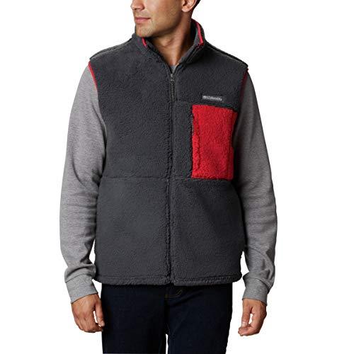 Columbia Chaleco Mountainside para hombre, color rojo, talla XL
