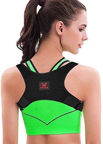 L Posture Corrector for Women and Men KarmaRebirth Upper Back Brace with Back Magnet Shoulder Cushion Adjustable Clavicle Kyphosis Brace Improves Posture Relieve Lower Neck and Upper Back Pain