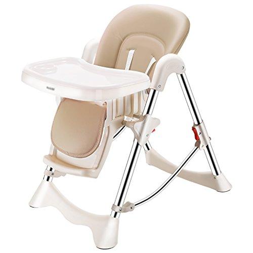 HGNbb La Silla Alta Plegable del bebé de múltiples Funciones, Portable Caqui...