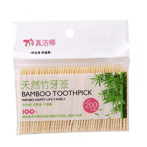 Einweg Bambus Zahnstocher Aus Holz Holz Runde Zahnstocher Für Party Olive Frucht Zahnpflege Zahnstocher 200pcs / Bag