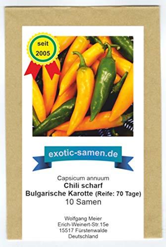 Scharfes Chili - Peperoni - Form und Farbe einer Karotte - Bulgarian carrot - bulgarische Karotte - 10 Samen