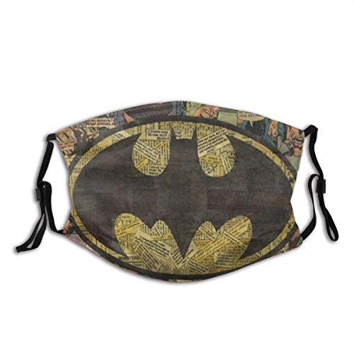 Protector bucal Bat-Man Art Pasamontañas Boca Bandanas Decoración Cara Protector Facial Con 2 Filtros