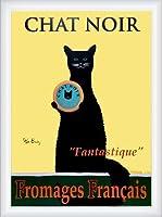 ポスター ケン ベイリー Chat Noir 額装品 ウッドハイグレードフレーム(ホワイト)