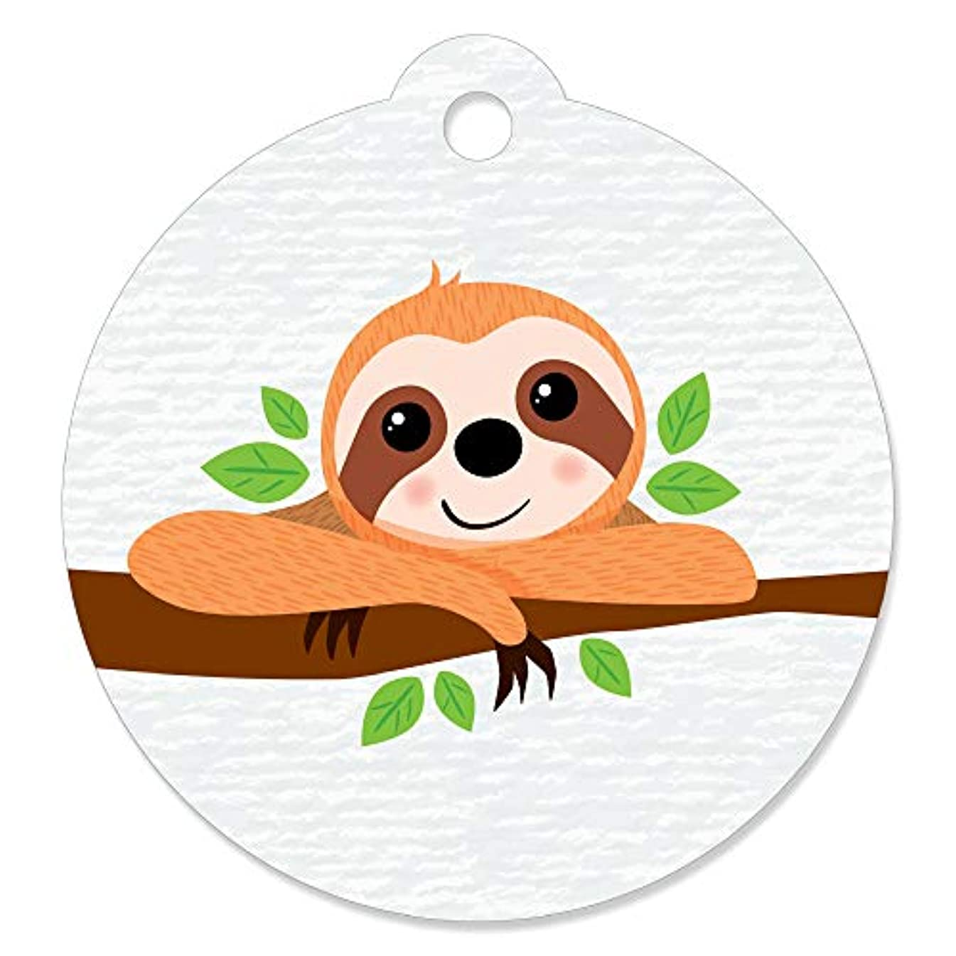 Let's Hang - Sloth - Baby Shower or Birthday Party Favor Gift Tags (Set of 20)