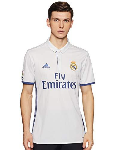 1ª Equipación Real Madrid CF 2016/2017 - Camiseta oficial para hombre adidas, color blanco, talla S