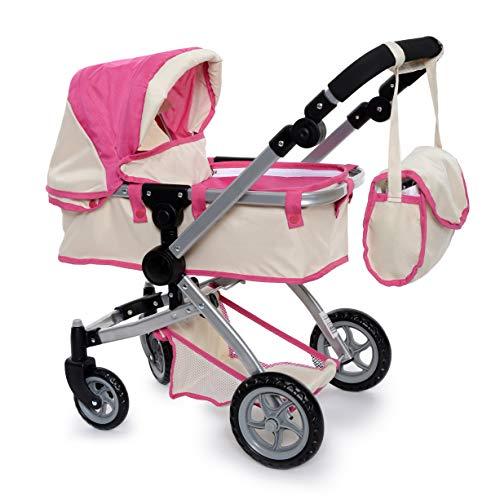 fash n kolor Deluxe Doll Pram Stroller with Swiveling Wheels & Adjustable Handle...