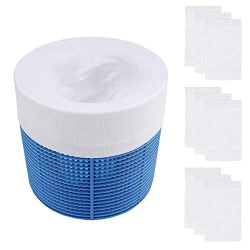 DEXIDUO Canasta Skimmer para Piscina de 10 Piezas, Calcetines Skimmer para Piscina, Filtro para Calcetines Skimmer para Piscina, protección de Filtro para Proteger su Filtro, Blanco