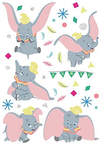 AG Design Dumbo au cirque Disney Stickers décoratifs pour murs, meubles et décoration d'intérieur d'une chambre d'enfant 42,5 x 65 cm DK 1735 Multicolore 5 x 65 cm