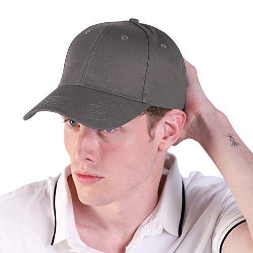 LIVACASA Baseball Cap Herren Verstellbar Basecap Luftlöchern Sonnenschutz Damen Baseballkappe CAPI Unisex mütze Baumwolle Cappy für Sport Reisen Draußen (Dunkelgrau, One Size)