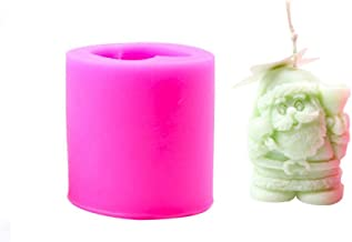 Dequate Silicone Cylinder Christmas Candle Moulds//Soap Moulds//Baking Moulds For Making Santa Claus Ice Cubes Models and Candles Soap , Chocolate