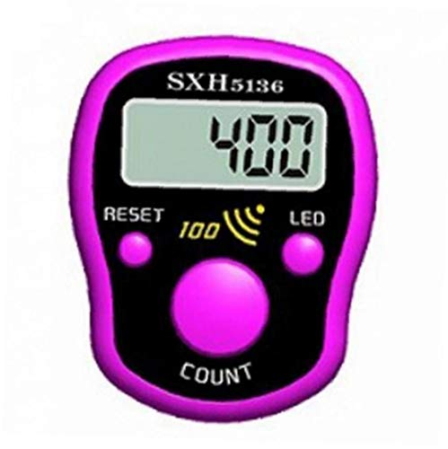 Amoyer Mini Puntada Marcador Fila Dedo Display LCD Contador eléctrico Digital con...