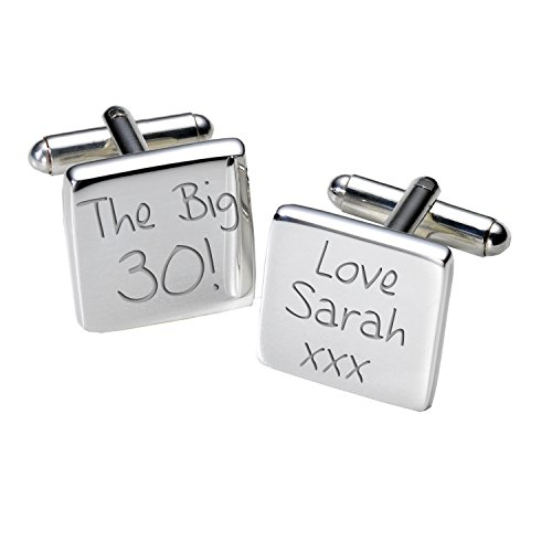 A2bir007-the Big 30. cufflinks-personalised-mens-gift-engraved – square-birthday