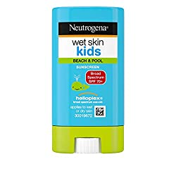 Neutrogena Wet Skin Kids Water Resistant Sunscreen Stick for Face and Body, Broad Spectrum SPF 70, 0