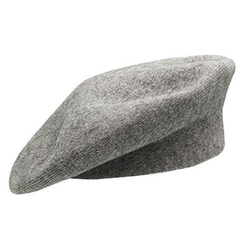 Umeepar Damen Französischen Baskenmütze Mütze Reversible Kaschmir (Grau)