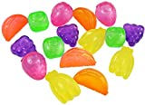 My-goodbuy24 Wiederverwendbare Eiswürfel bunt Früchte - 40 Stück, Eiswürfelform Party-Eiswürfel...