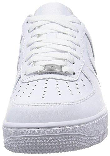 Nike Air Force 1 '07, Zapatillas de Deporte Hombre, Blanco (White/White), 44 EU