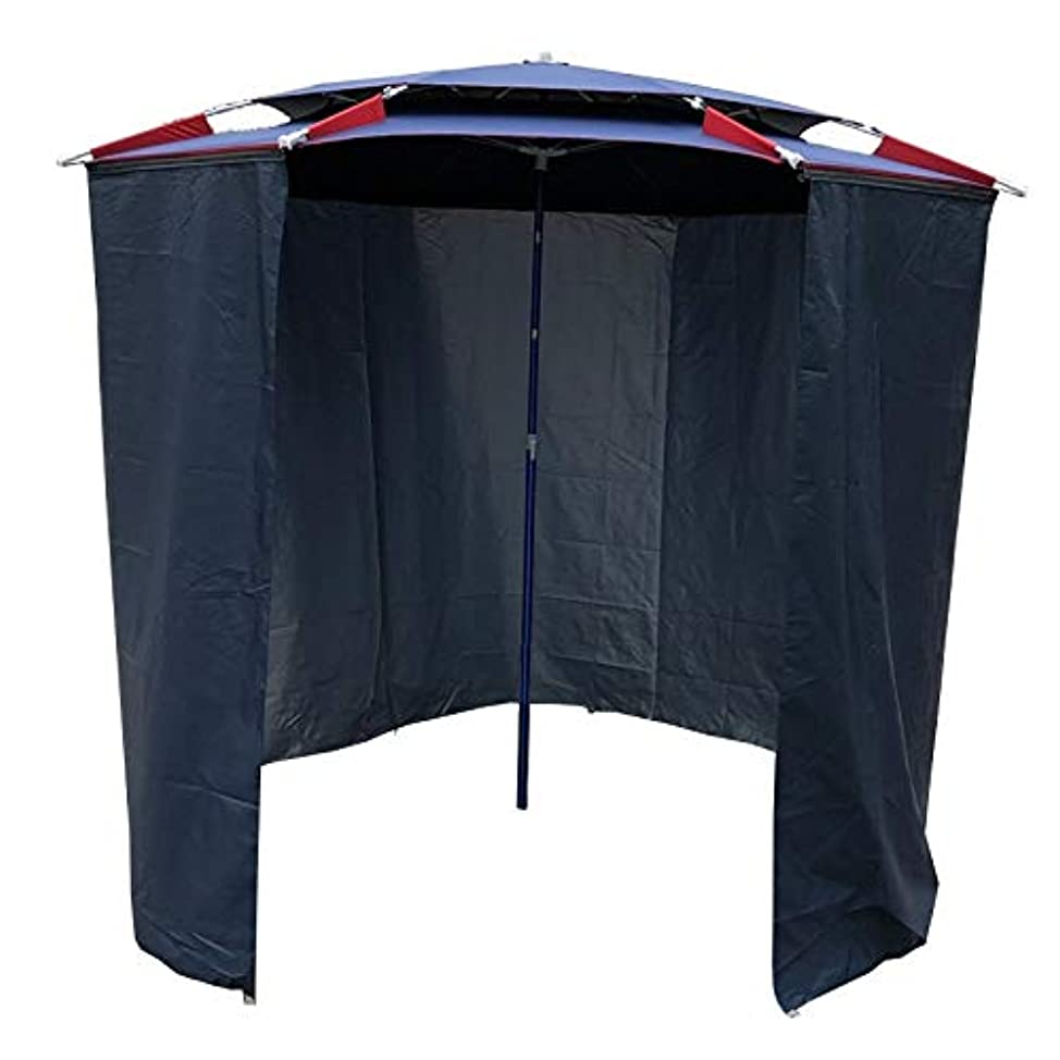 アミューズメント手荷物ブランド釣り用テント、防雨、日よけ、折りたたみ式、ジッパー式、取り外し可能、アルミ合金、黒いゴム布、二重目的のデザイン、2層の傘リブ、2種類の完全エンクロージャーと半エンクロージャー CHENHz (Color : Blue-B-2.2x2.2x2.4m)