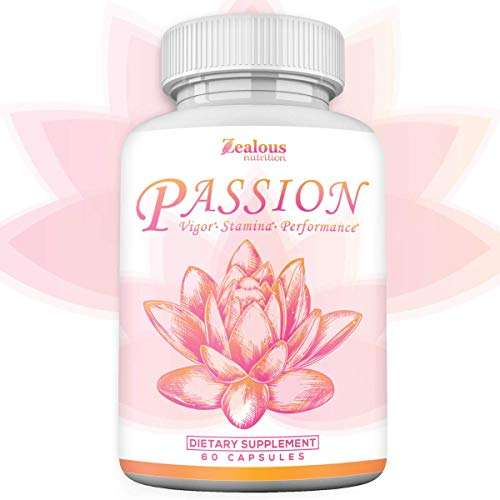 Passion Female Enhancement Pills – 10X Strength w/Increased Drive, Hormone Balance, Mental Performance, & Mood for Her – 100% Natural Pink Maca Root, L-Arginine, Dong Quai, Ginseng, & More - 60 Caps