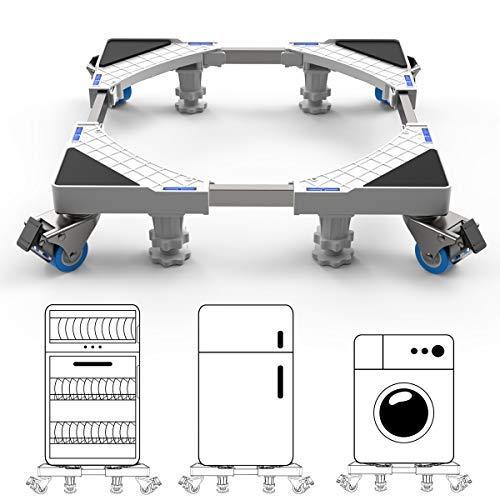 DEWEL Waschmaschine Sockel Untergestell für Kühlschrank Verstellbare Sockel für Trockner, Waschmaschine und Kühlschrank