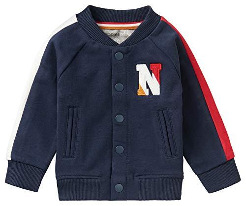 Noppies Baby-Jungen B Cardigan LS Tokoza Strickjacke, Peacoat-P590, 86