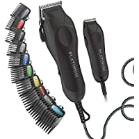Wahl Pro Series High Performance Ultra Power Heavy Duty Corded Haircutting Combo Kit w/ Color Coded Guards (Black)