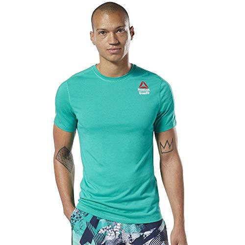 Reebok RC AC + Cotton tee G Camiseta de Manga Corta, Hombre, Verde (Emerald/Emerald), L