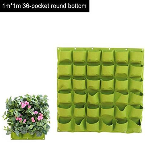 Sacs de culture à fixation murale, poche horizontale à suspendre – Pots de plantation pour fleurs et légumes, pot pour jardin, décoration de la maison (vert)