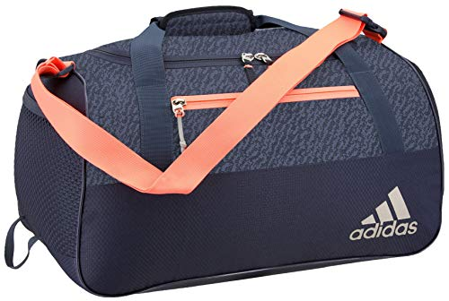 adidas Women's Squad Duffel Bag, Trace Blue/Trace Blue Compass/Sun Glow, ONE SIZE