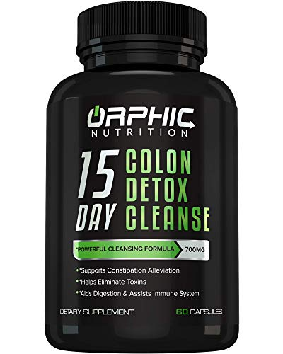 Colon Cleanser Detox for Weight Loss & Bloating Relief - 15 Day Fast-Acting Cleanse for Constipation Relief, Intestinal Cleansing & Detoxification. Formulated with Probiotics to Flush Toxins & Boost