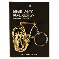 【SomeMusicDesign】楽器ワイヤーストラップ - チューバ 音楽雑貨 クラシック音楽 Music Gift Some Music Design