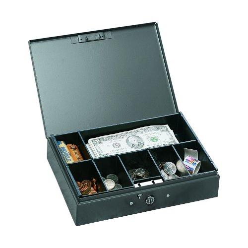 STEELMASTER Low Profile Steel Cash Box, Gray (221F10GRA)