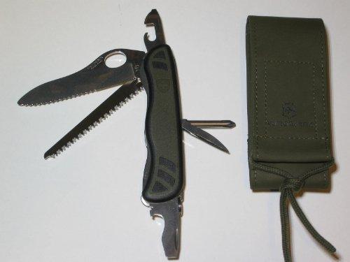 Im Set: Victorinox Soldatenmesser mit Nylongürteltasche - beides oliv