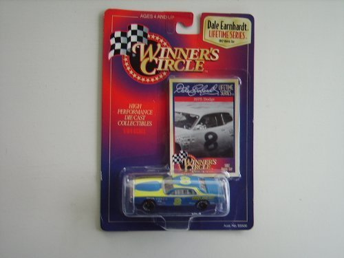 Dale Earnhardt Sr #8 10000 RPM 1975 Dodge Charger 1/64 Scale Winners Circle Lifetime Series Edition Bonus Car With Photo Collector Card