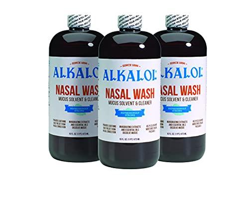Alkalol Solution Original Nasal Wash, 3 Count -16 fl oz, 16 fl oz...