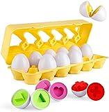 Coogam Matching Eggs 12 uds. Clasificador de reconocimiento de Color y...