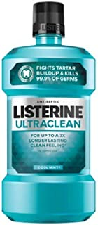 Listerine Ultraclean Oral Care Antiseptic Mouthwash, Cool Mint, 16.9 Fl. Oz (Pack of 1)