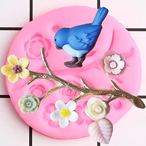 Molds Birds Cupcake Topper Fondant Mold Birthday Cake Decorating Candy Chocolate Moulds