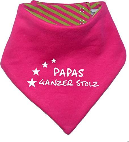 KLEINER FRATZ KLEINER FRATZ Kinder Wendehalstuch uni/gestreift (Farbe pink-lime) (Gr. 1 (0-74)) Papas ganzer Stolz/FAT