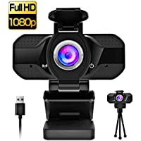 Piphu HD 1080P USB Plug and Play Webcam with Microphone for Zoom, Skype, Messenger, Facetime