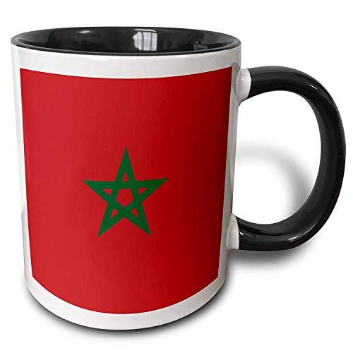 Vlag van Marokko Marokkaanse Rood met Groene Pentagram Ster Seal Ensign Afrika Afrikaanse Koffiemokken Citaat Motivationele Mok Cup Grappige Keramische Cup 11oz
