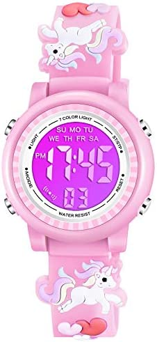 Venhoo Kids Watches for Girls Boys 3D Cartoon 30M Waterproof 7 Color LED Digital Child Wrist product image