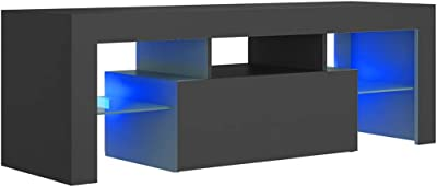 vidaXL TV Cabinet with LED Lights Grey 120x35x40 cm