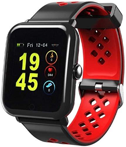 Sami - Speed - Smartwatch, Smartband, Pulsera de Actividad. para Android y iOS Función: GPS, presión sanguínea, Fuerza G, Multideportivo. Negro/Rojo.